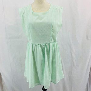 Fun & Flirt Mint Polka Dot Dress Bow Back